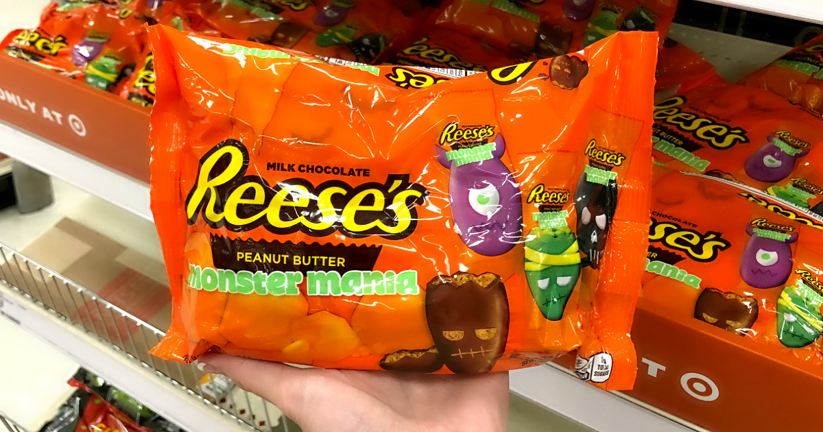 2018 target halloween candy includes Reese's Monster Mania at Target