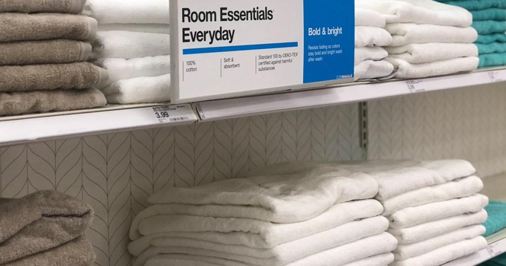 Room Essentials towels at Target