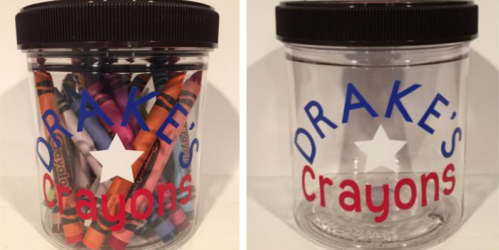Talenti Gelato Containers + Crayola Crayons = Budget-Friendly Gift Idea