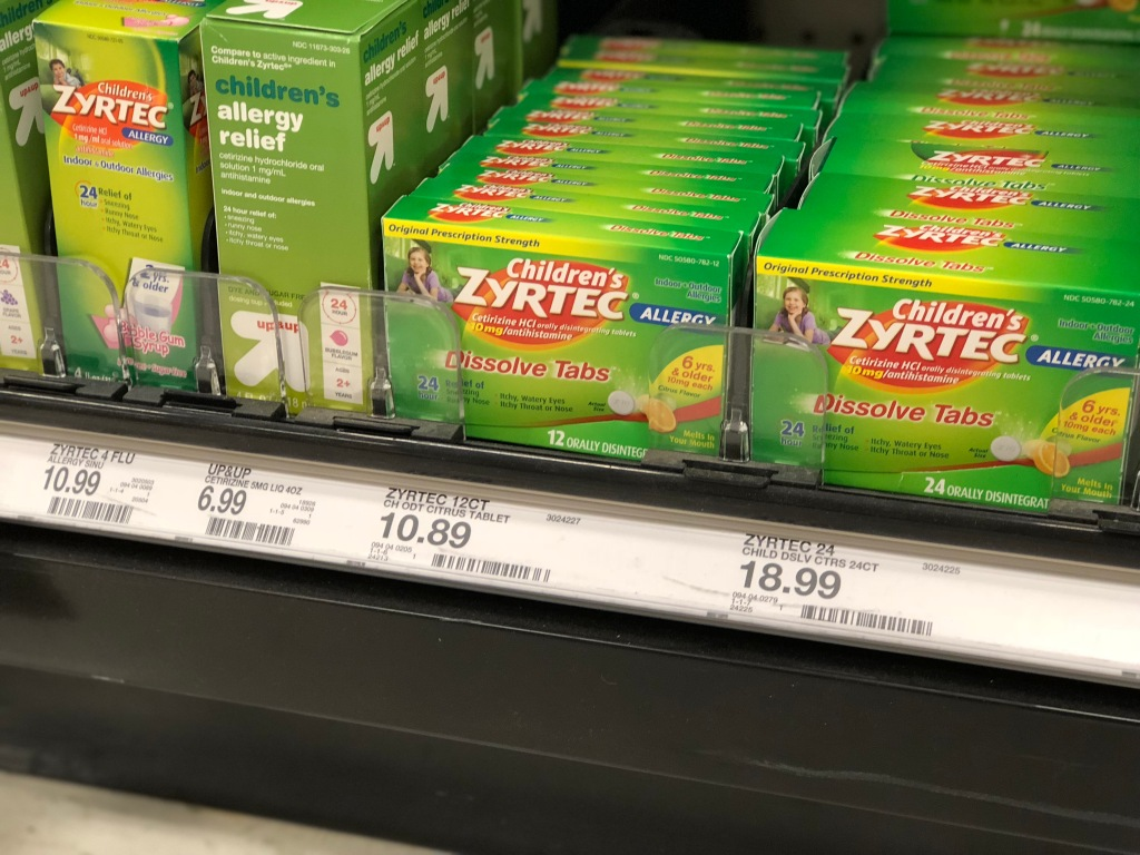 This is a graphic of Declarative Zyrtec Printable Coupon $10