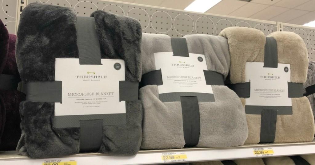 Threshold Microplush Bed Blanket at Target