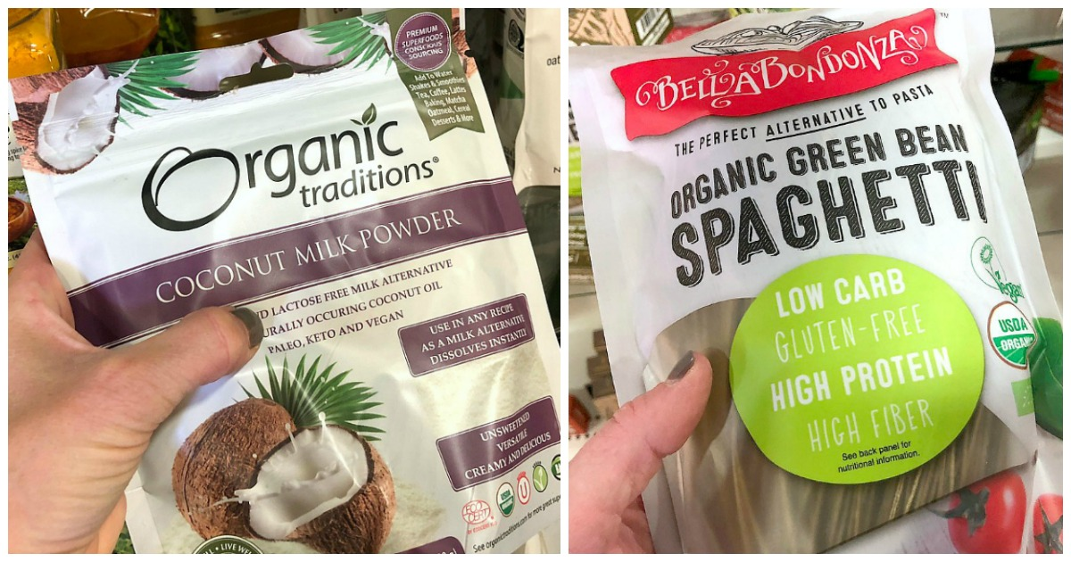 my favorite things to shop at t.j.maxx — keto finds of coconut milk powder and green bean spaghetti