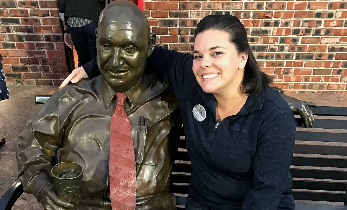 chick-fil-a is one of the best fast food chains out there – alana with s. truett cathy statue