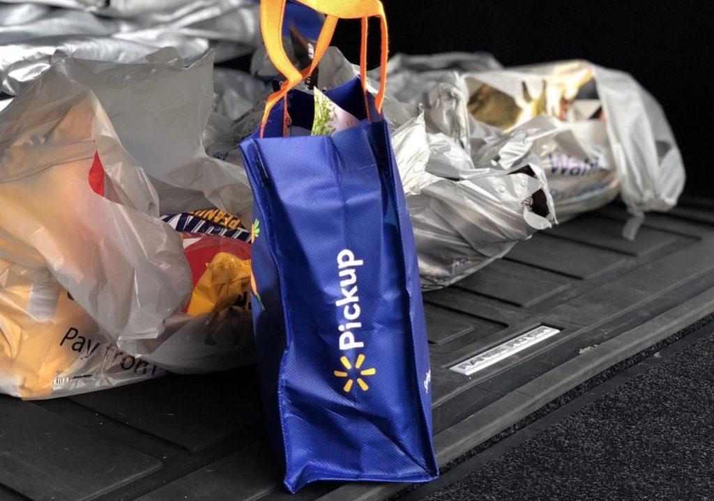 Walmart grocery pickup - bags in car
