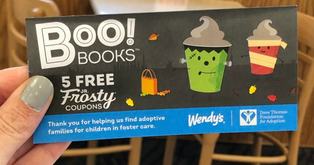 wendy s 1 halloween books available include 5 free jr frosty