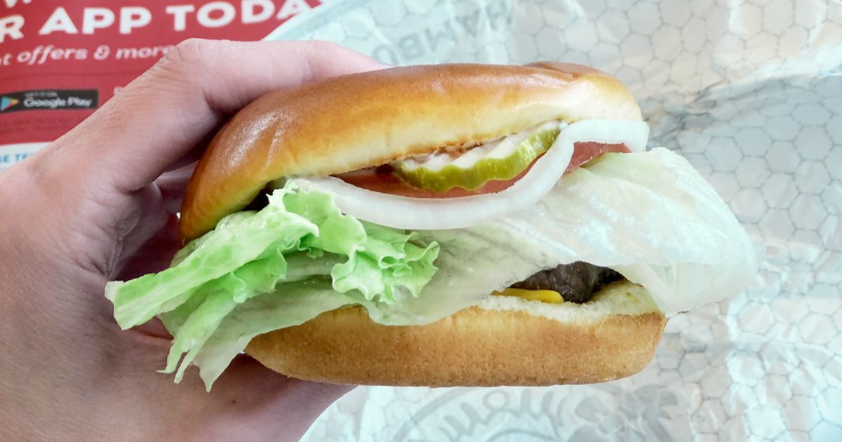 National Cheeseburger Day Deals 2018 - picture of a Wendy's Burger
