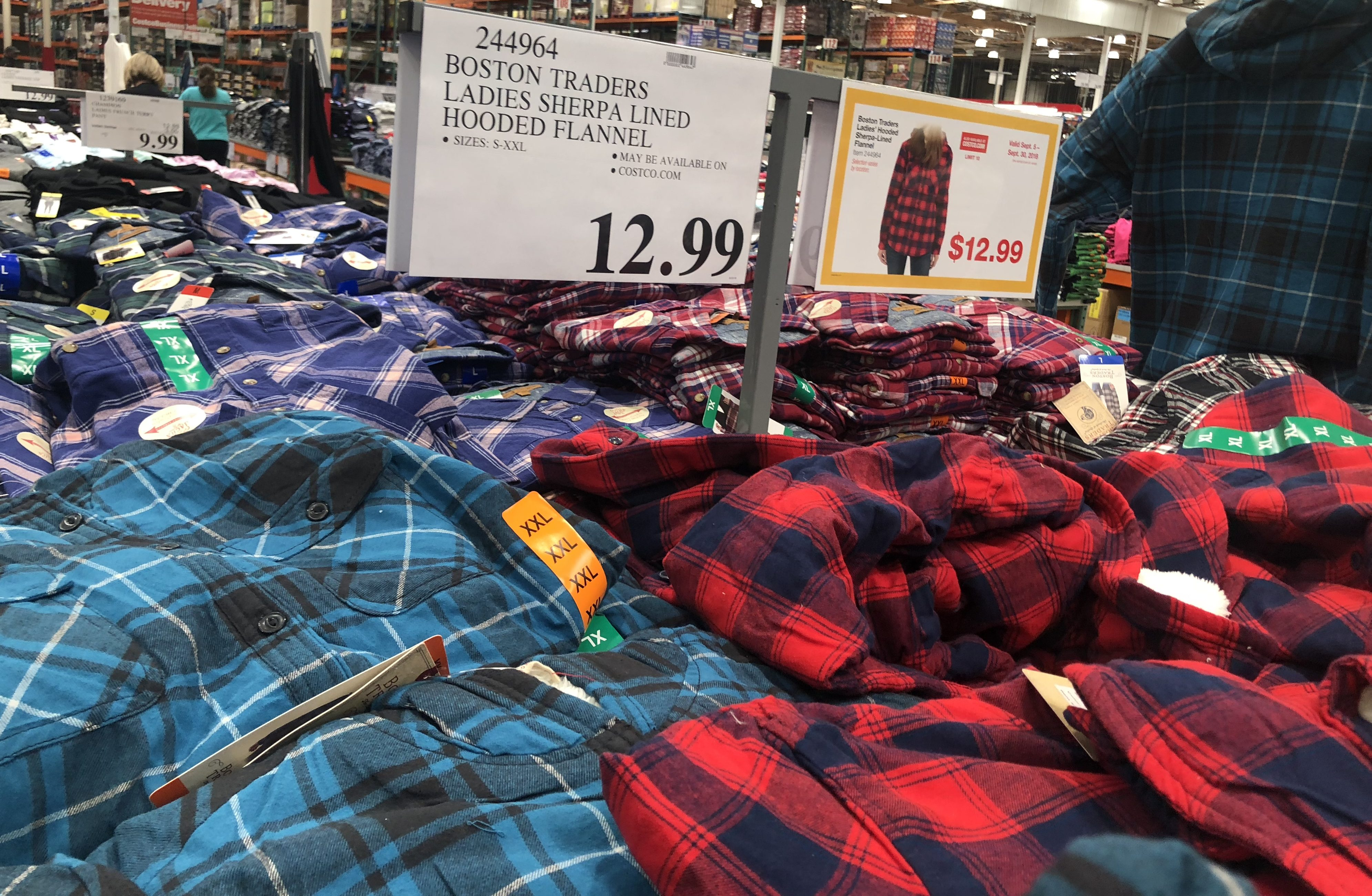 Costco Monthly Deals for September 2018 - Women's Sherpa Flannels at Costco