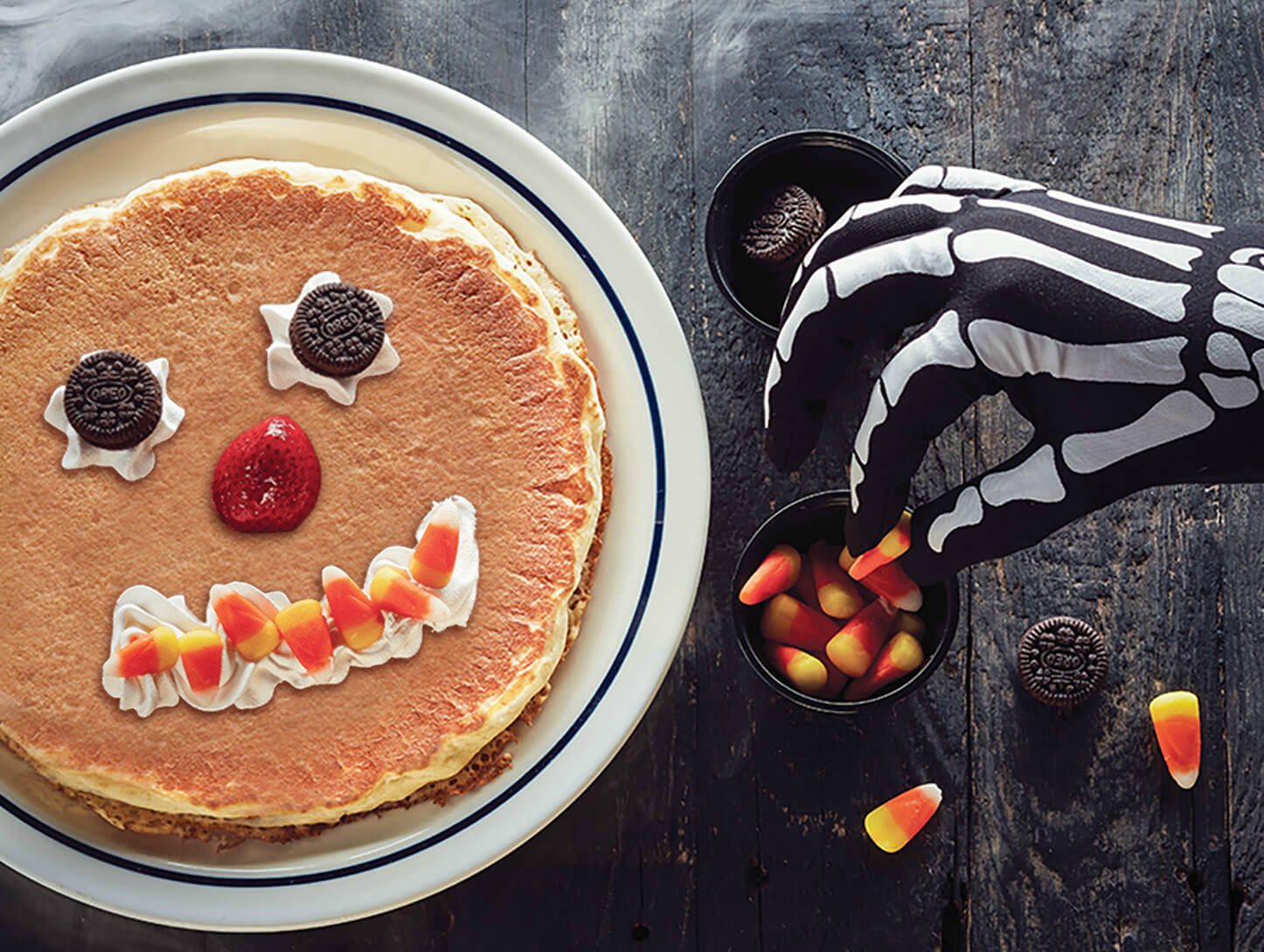 Halloween freebies and deals – 2018 IHOP scaryface pancake