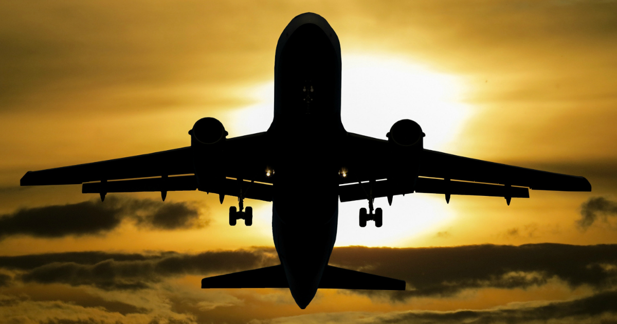 domestic airlines lawsuit settlement – a plane flying into the sunset