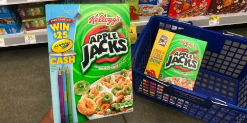 Kellogg's Cereals as Low as 75¢ Per Box After Cash Back at Walgreens