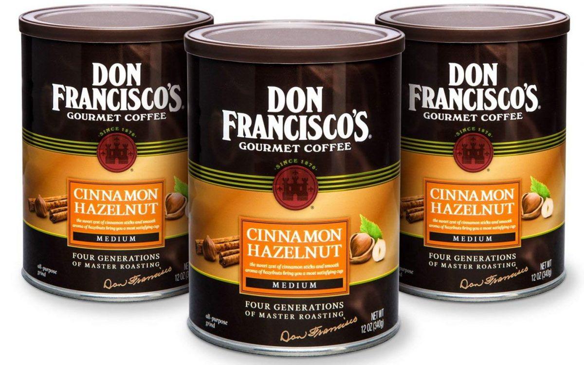 Don Francisco's Coffee Cinnamon Hazelnut cans