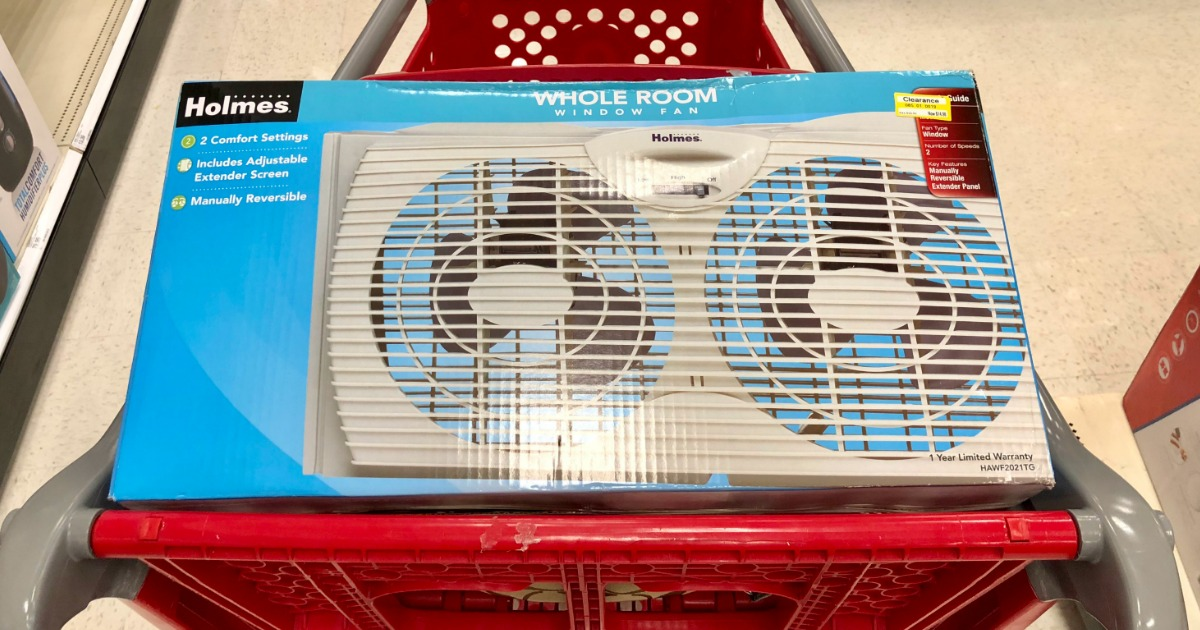 Holmes Whole Room Window Fan in Target Cart