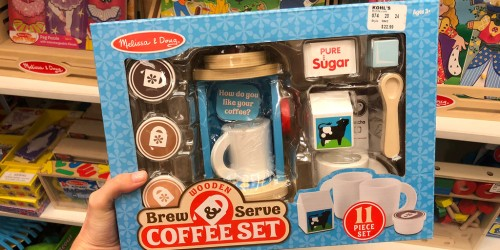 Melissa & Doug 11-Piece Wooden Coffee Set Only $12.91 on Amazon or Target.com (Regularly $24)