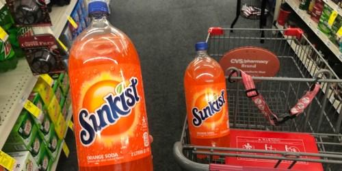 Sunkist 2-Liter Bottles Only 22¢ Each After Cash Back & CVS Rewards