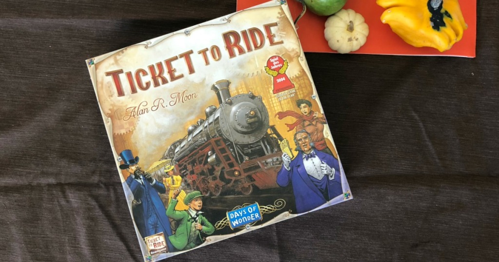Ticket to Ride Board Game on table