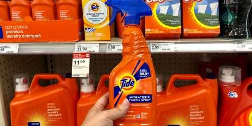 Over 50% Off Tide Antibacterial Fabric Spray at Target