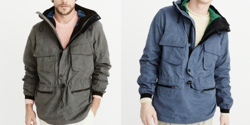 70% Off Abercrombie & Fitch Clearance = Men's Anorak Jacket Only $24 (Regularly $120) + More