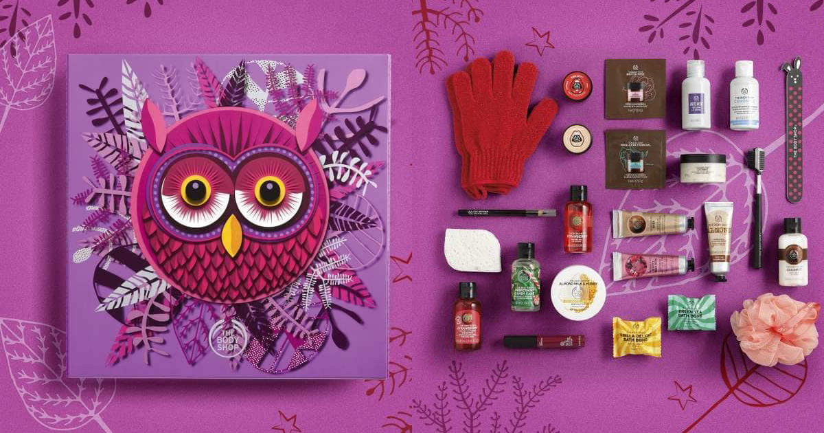 the body shop enchanted advent calendars now available and. Black Bedroom Furniture Sets. Home Design Ideas