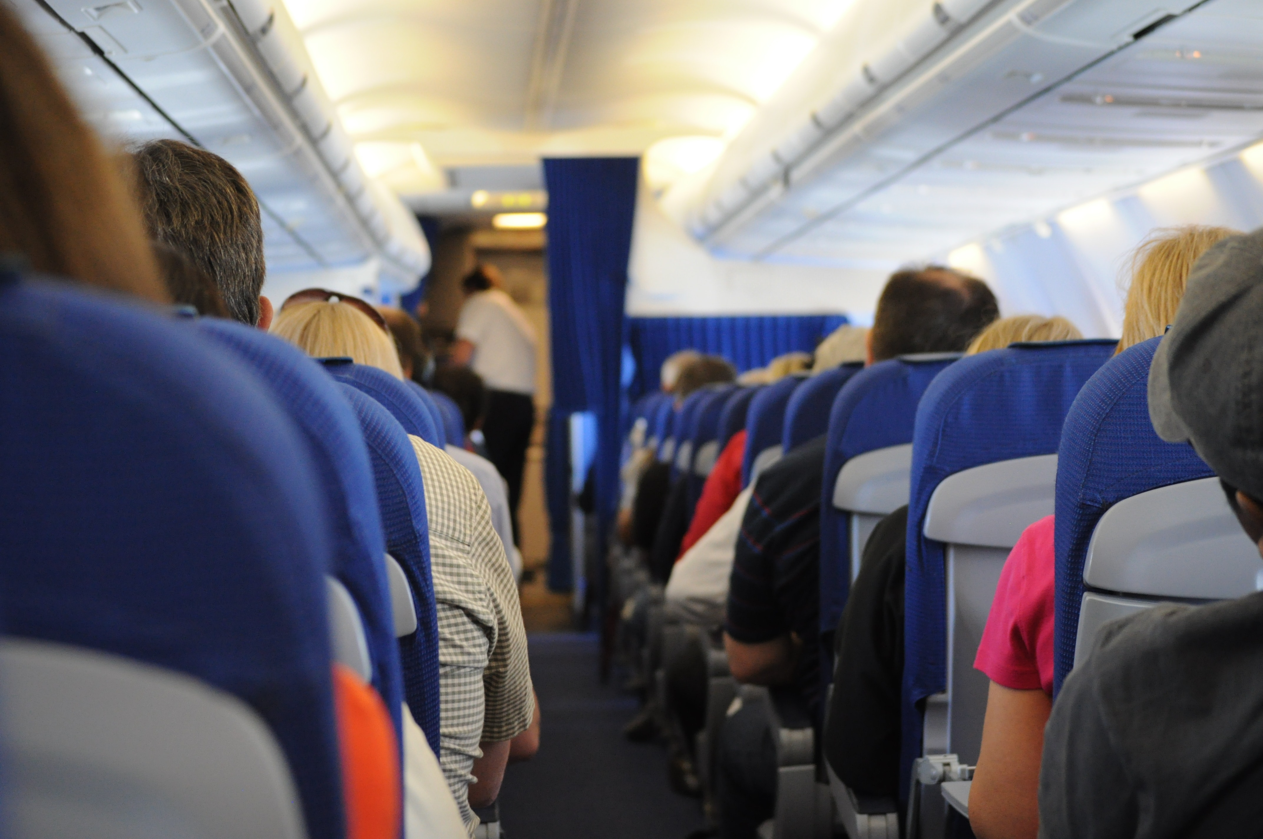 domestic airlines lawsuit settlement – passengers on an airplane