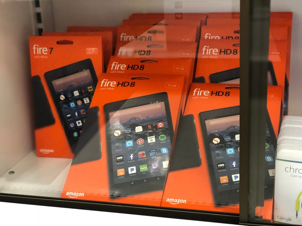 amazon fire hd8 in store cabinet