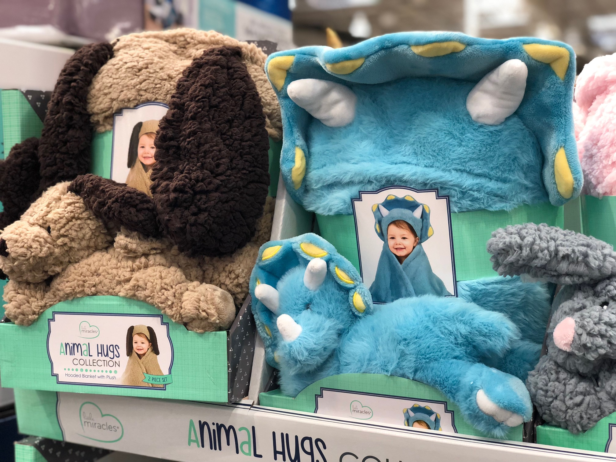 Animal Hugs Hooded Blanket & Plush Toy Set Only $13 99 at