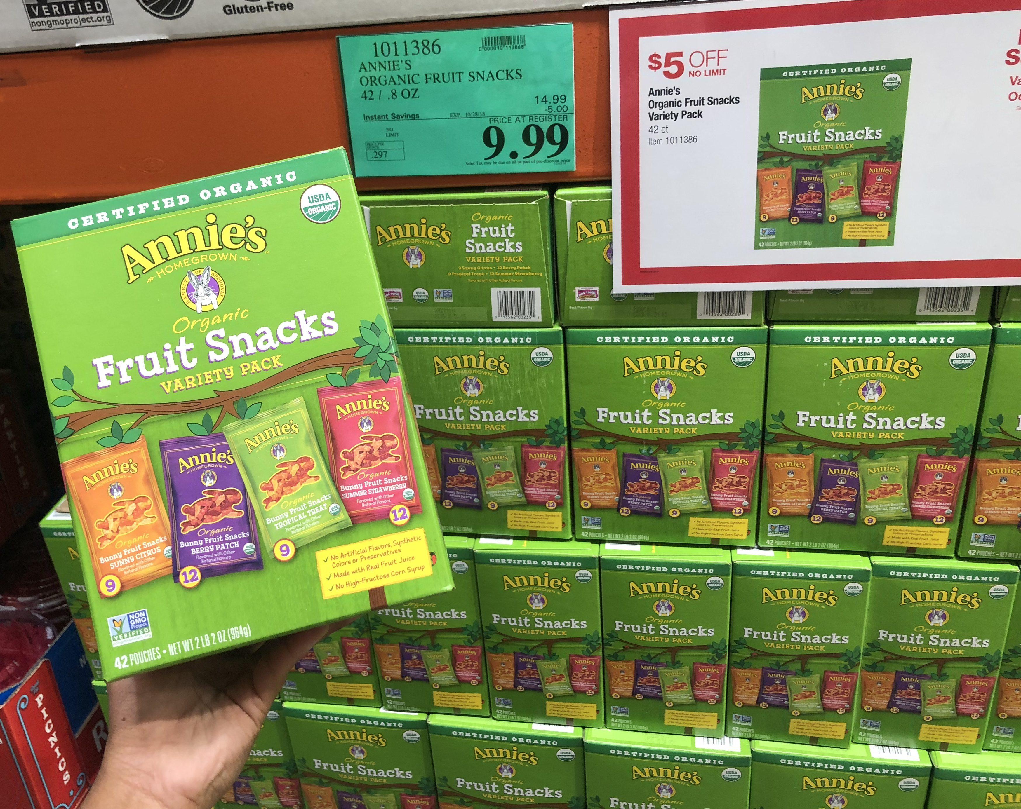 Costco deals October 2018 – Annie's fruit snacks at Costco