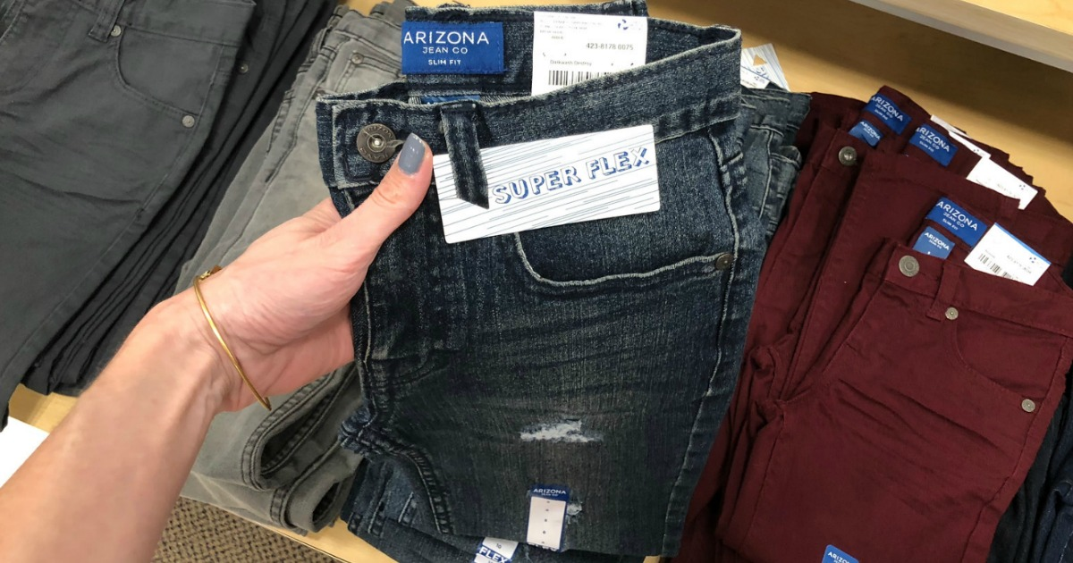 f30e5e347 Hop on over to JCPenney where they have Arizona Jeans for the Kiddos on  sale priced as low as $9.99 (regularly $27+) and Arizona Jeans for Men  priced as low ...