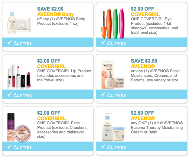 High Value Aveeno Covergirl Printable Coupons Hip2save