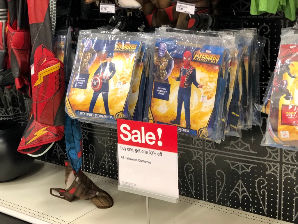 buy one, get one 50% off halloween costumes at target (in-store