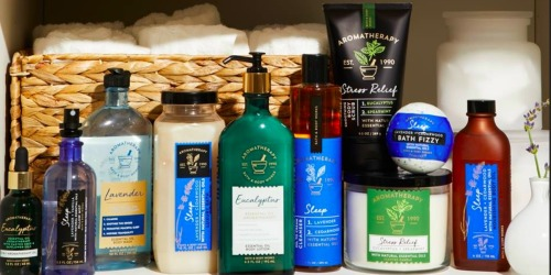 Over 50% Off Bath & Body Works Aromatherapy Products (Essentials Oils, Lotions + More)