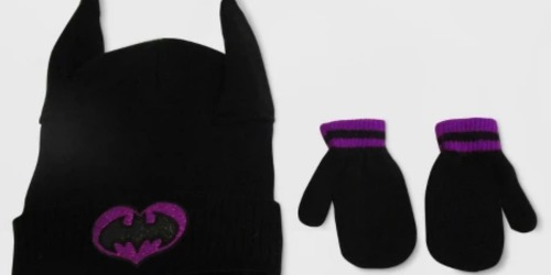 Batgirl Hat & Mittens Set Just $6.99 (Regularly $10) + More