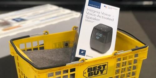 Best Buy: Insignia Voice Smart Bluetooth Speaker & Alarm Clock Only $19.99 (Regularly $100)