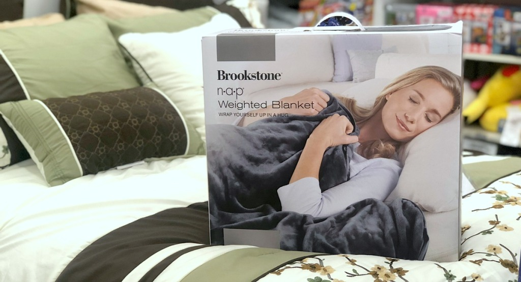 gift guide for men — brookstone weighted blanket