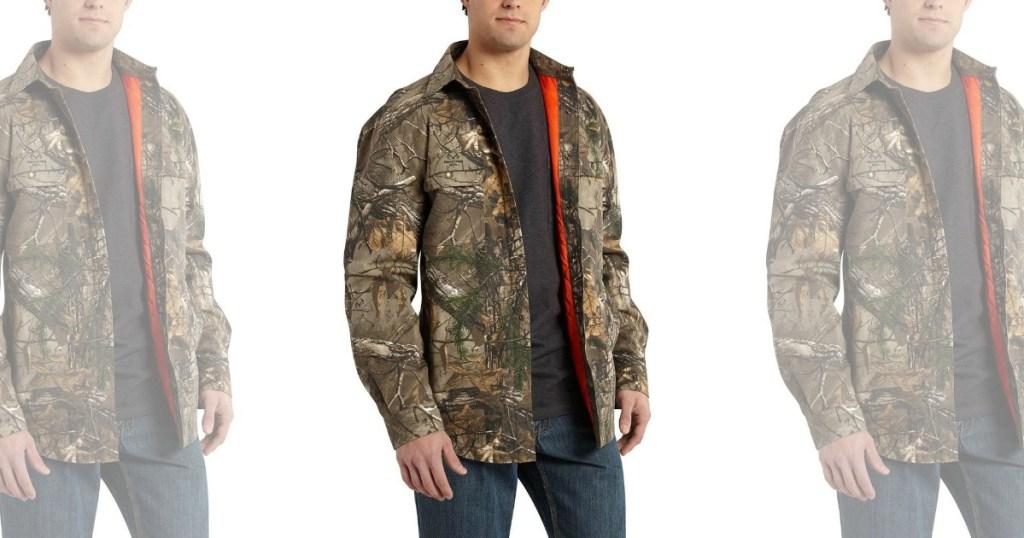 15658835da Carhartt Men s Regular Realtree Xtra Cotton Shirt Jacket Just  34 shipped ( regularly  84.99)