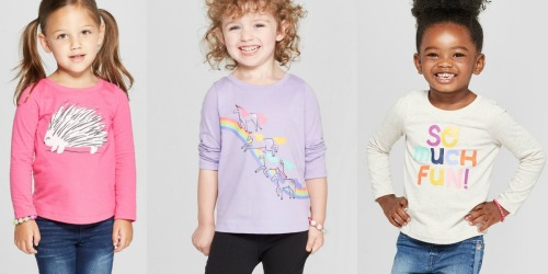 Cat & Jack Graphic Tees as Low as $4.40 at Target (In-Store & Online)