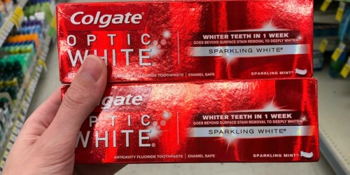 Amazon: Colgate Optic White Toothpaste 3-Pack Only $7.31 Shipped (Just $2.44 Per Large Tube)