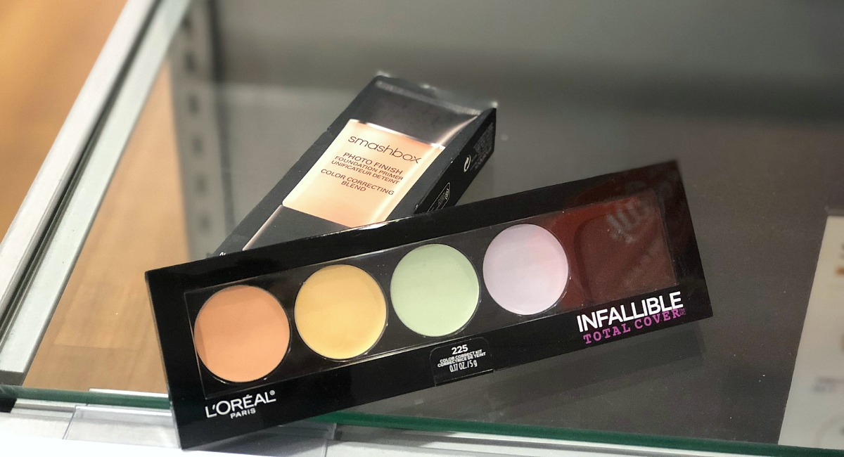 gift guide for the beauty makeup lover — color correcting formulas from l'oreal and smashbox
