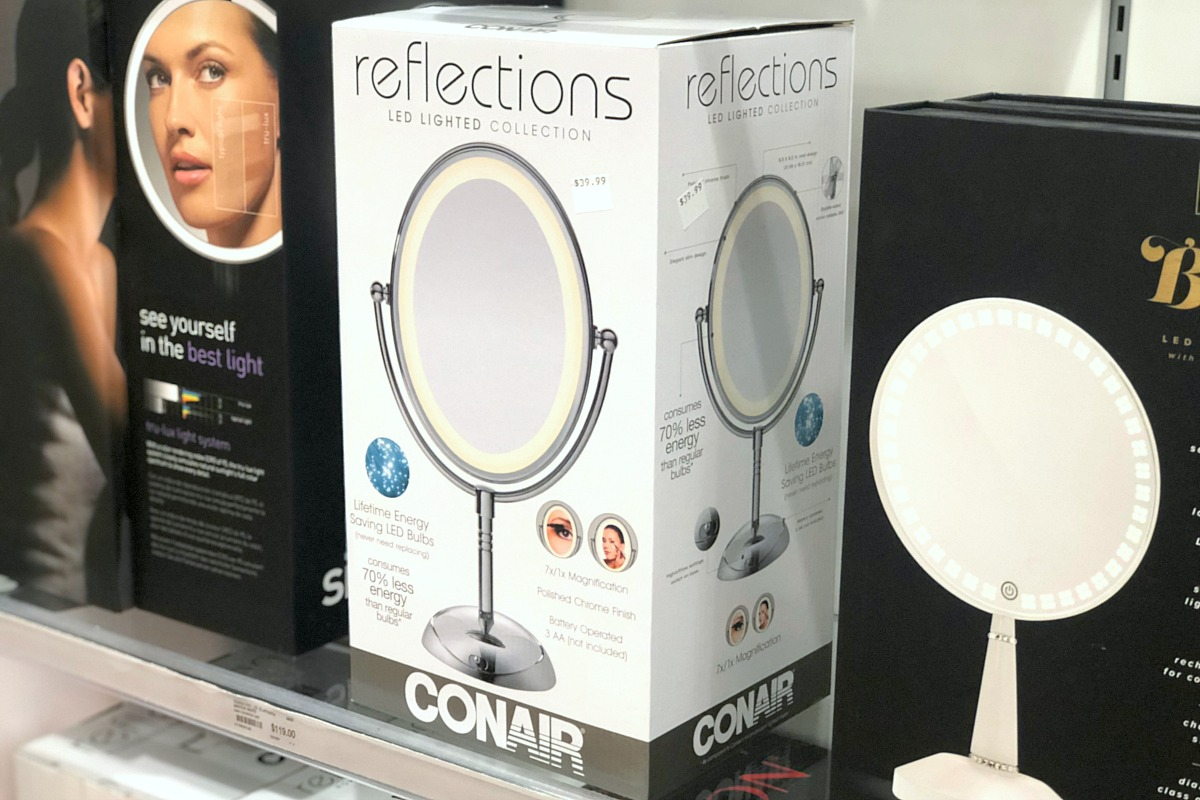 gift guide for the beauty makeup lover — conair led light makeup vanity mirror