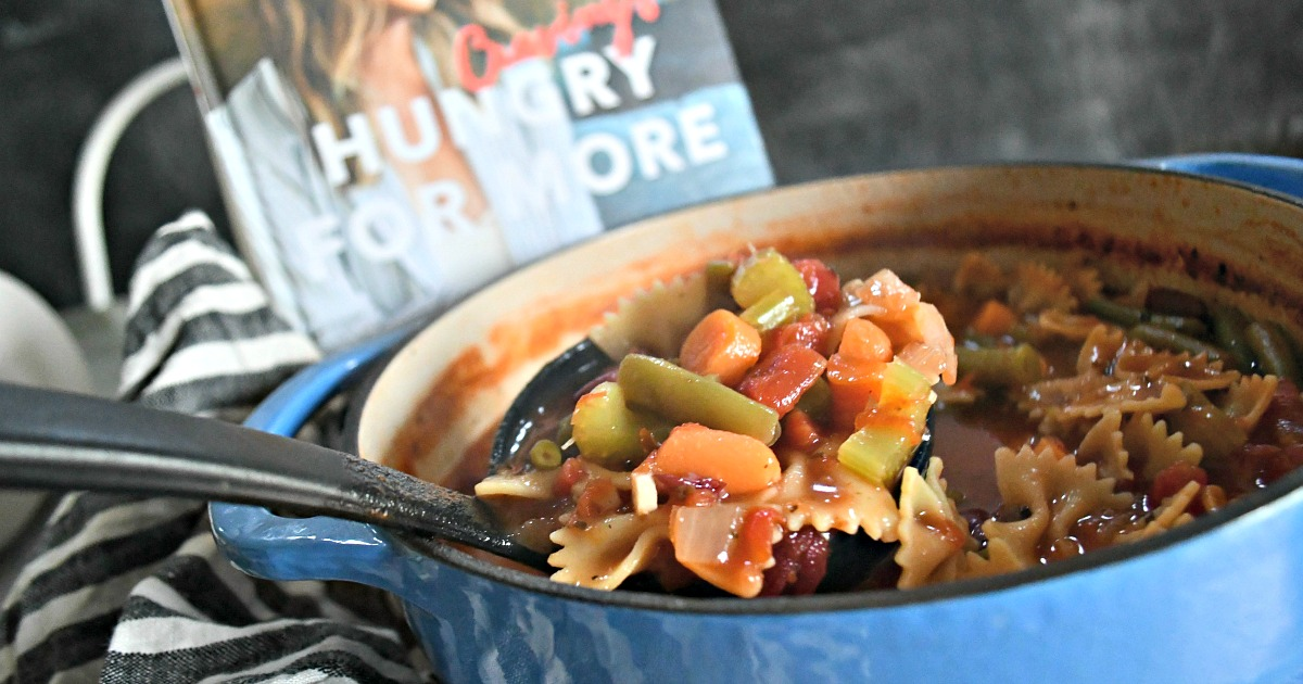 Hungry for More Cravings cookbook – Recipe in a pot next to the cookbook