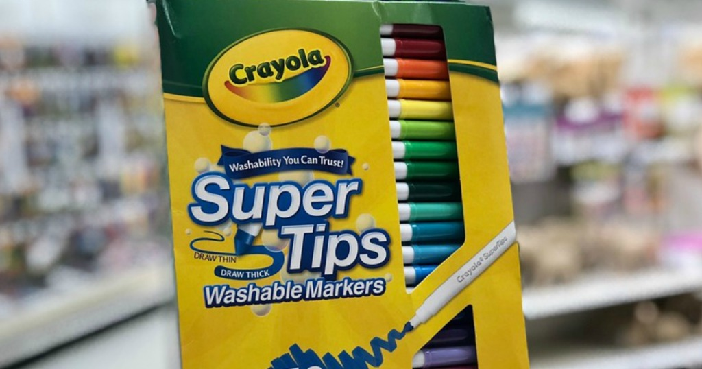 package of Crayola Super Tips markers