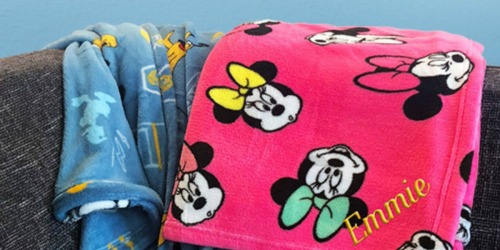 Personalized Disney Fleece Throws Only $12 (Regularly $26)