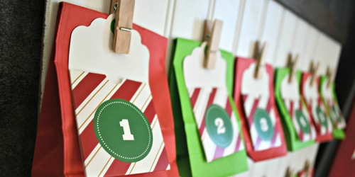 Easy DIY Wooden Advent Calendar with Hanging Treat Bags