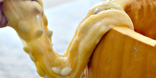 Create DIY Pumpkin Guts Slime with the Kids This Fall