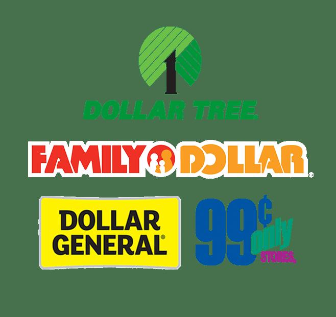dollar stores logos