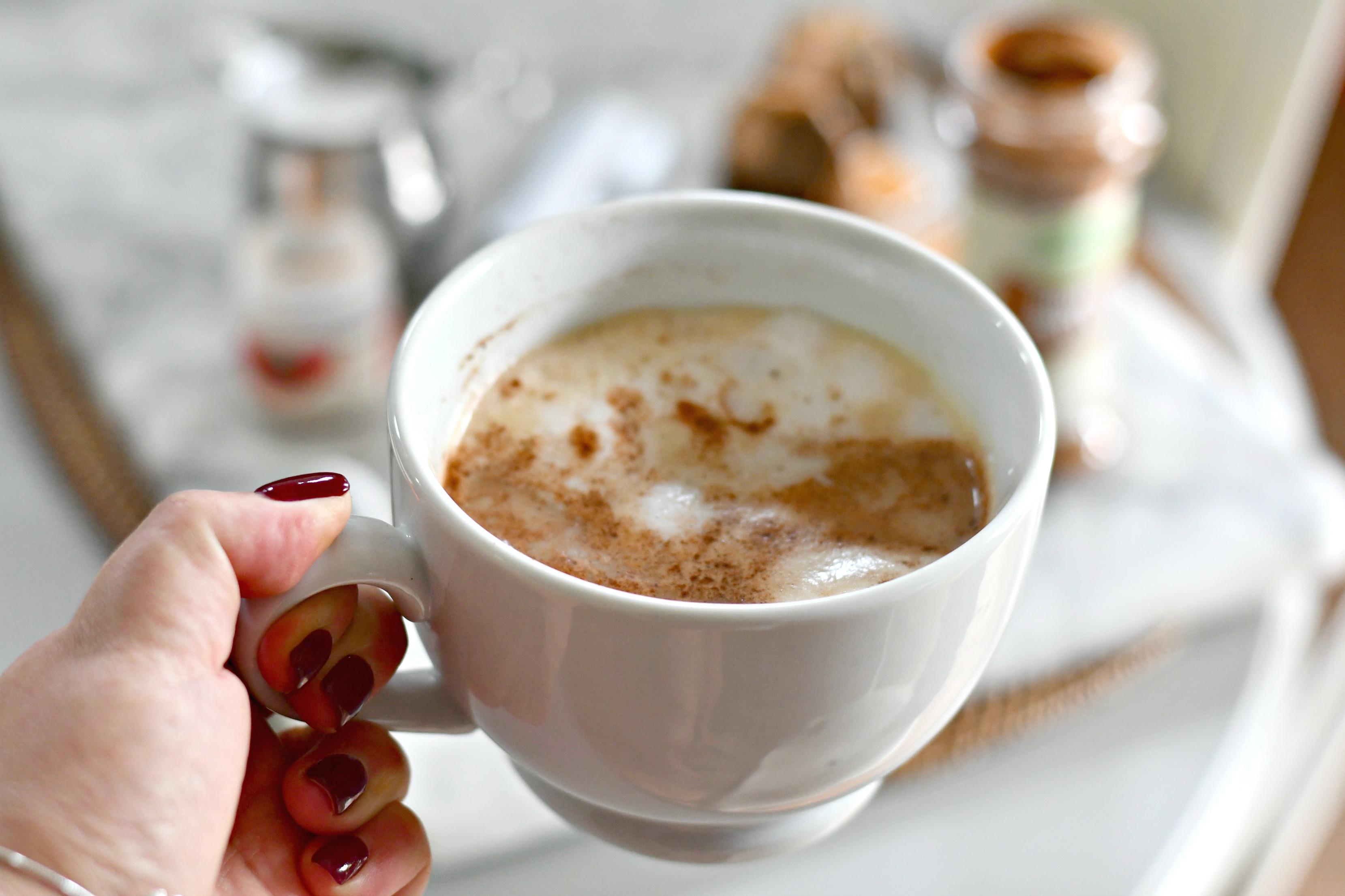diy starbucks chai latte closeup