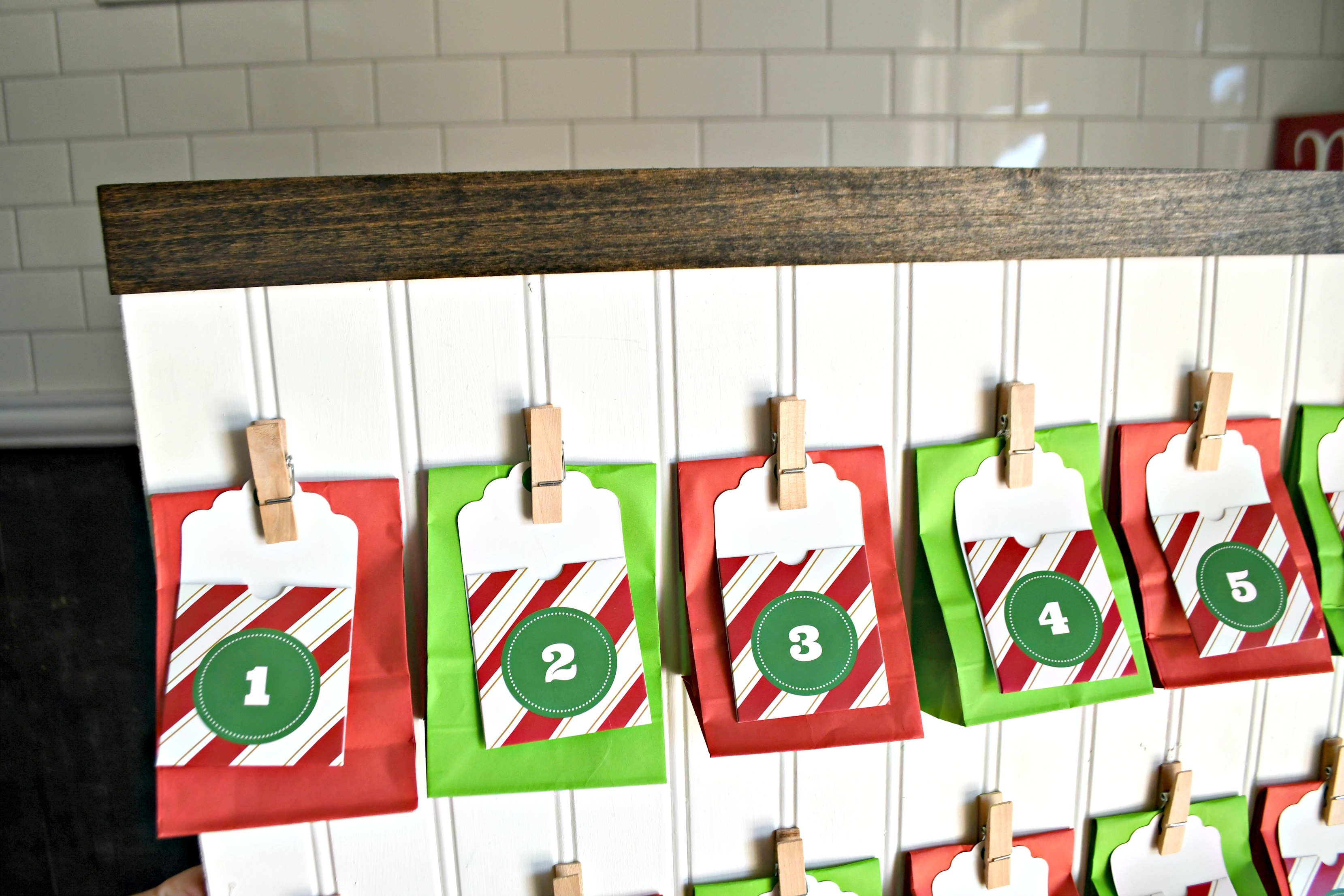 DIY Hanging Treat Bag Advent Calendar