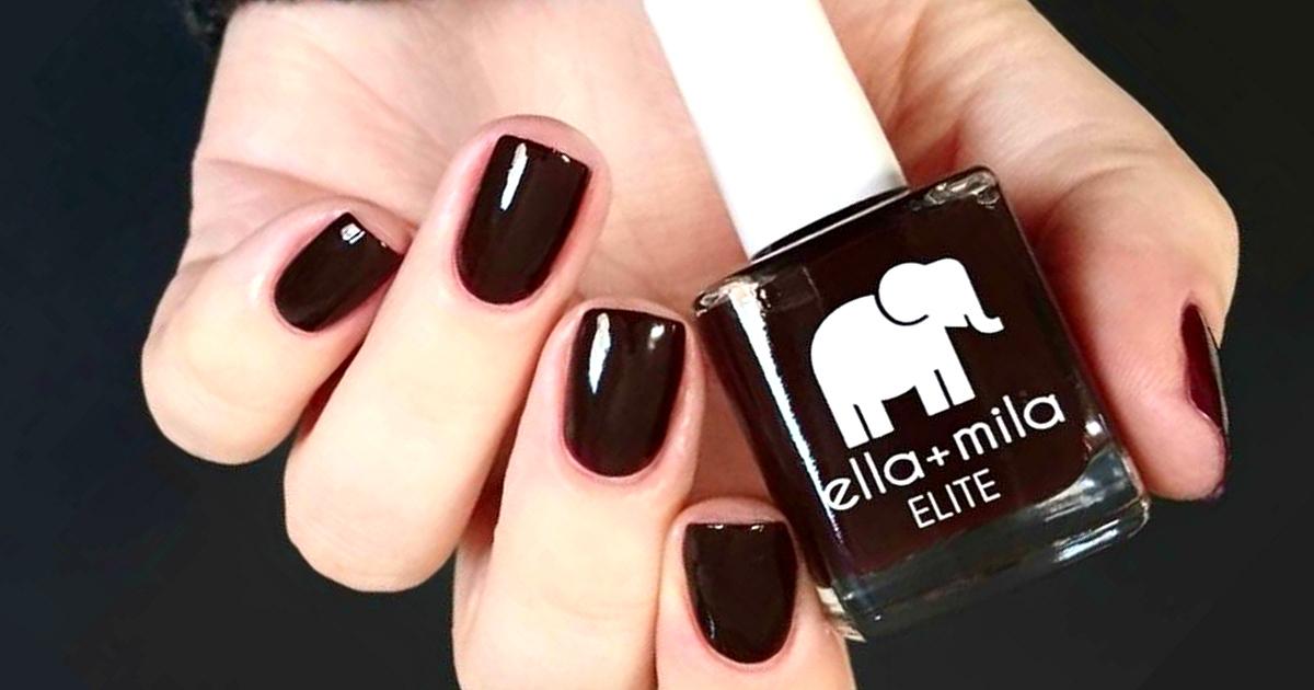Ella+Mila promo codes are available on holiday nail sets – Holiday Fling Nail Color