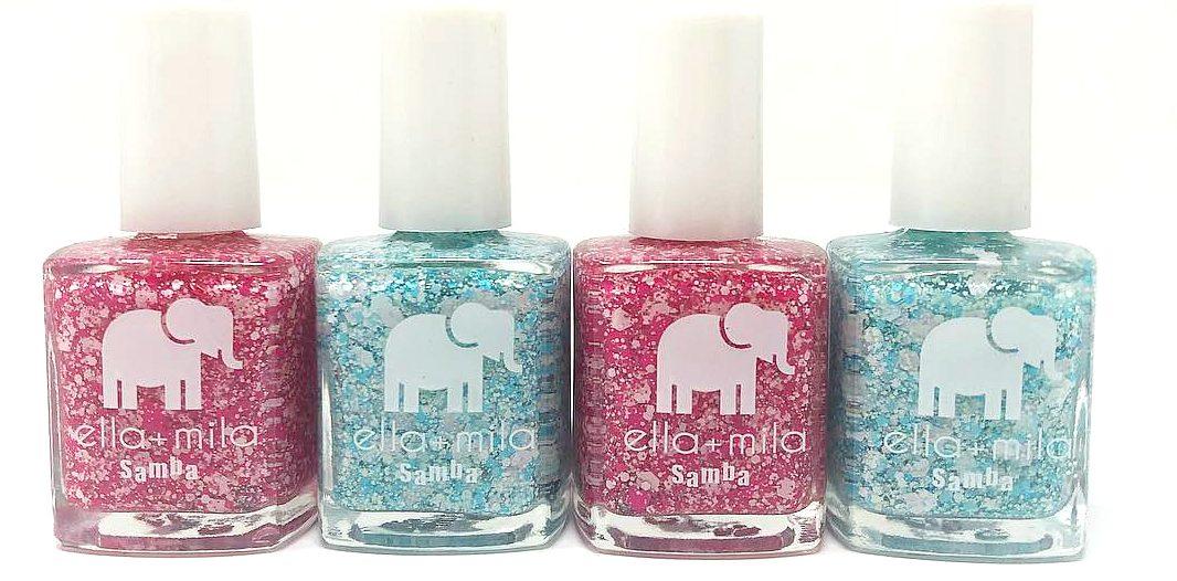ella + mila platter nail deal – Four colors up close