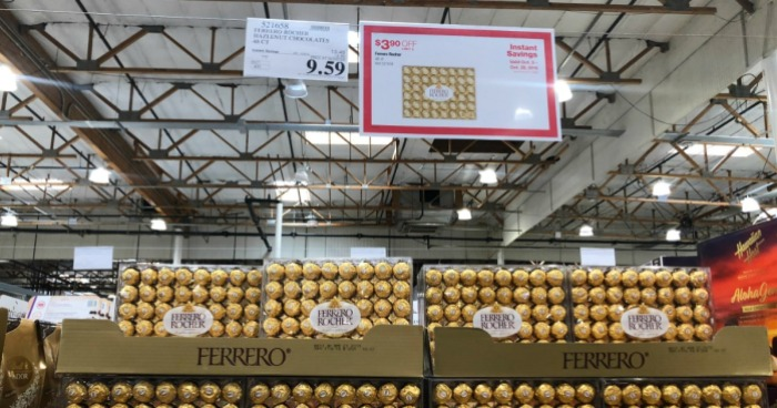 Ferrero Rocher Hazelnut Chocolates 48-Count Pack ONLY $9 59