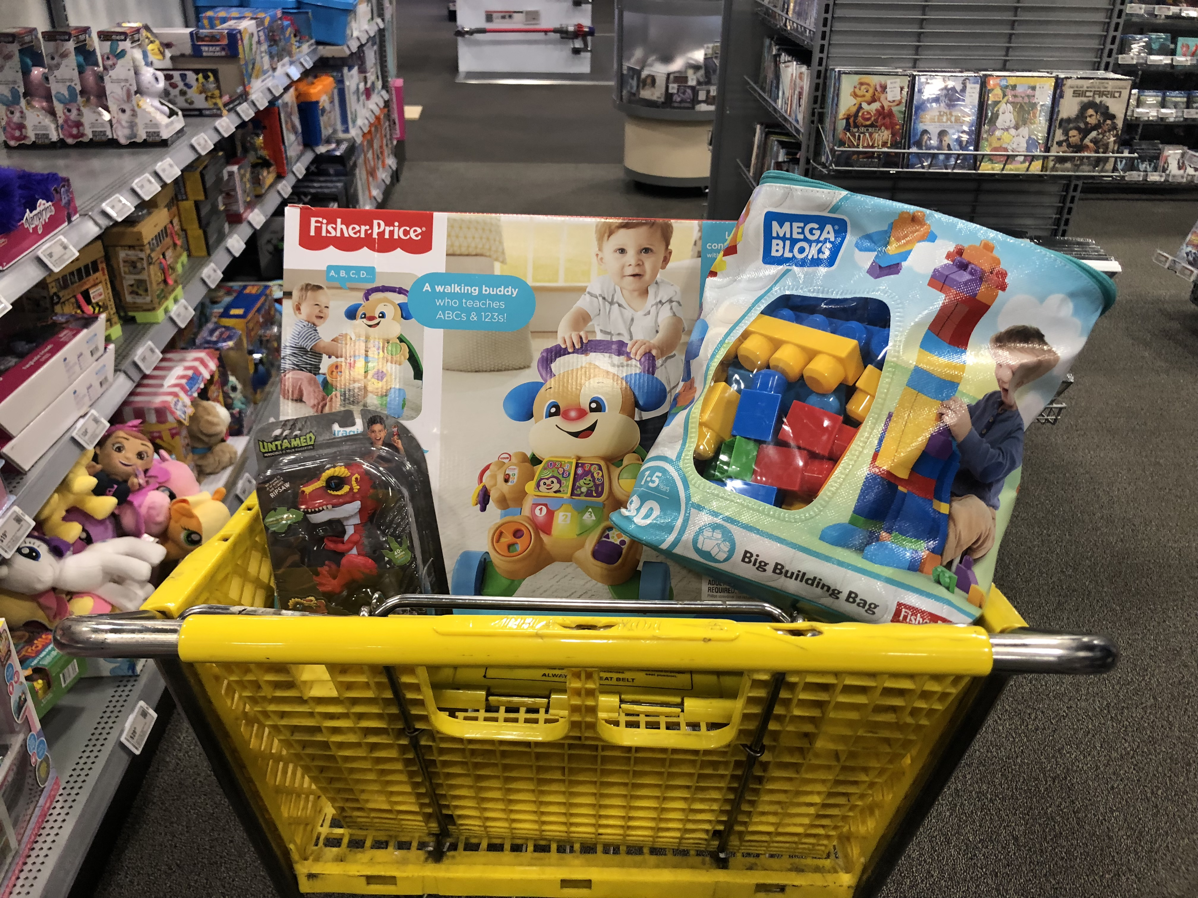 best buy 2018 toy book – Best Buy cart filled with toys